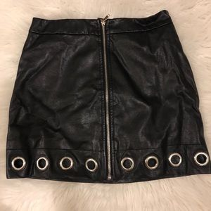 Faux leather skirt Size small